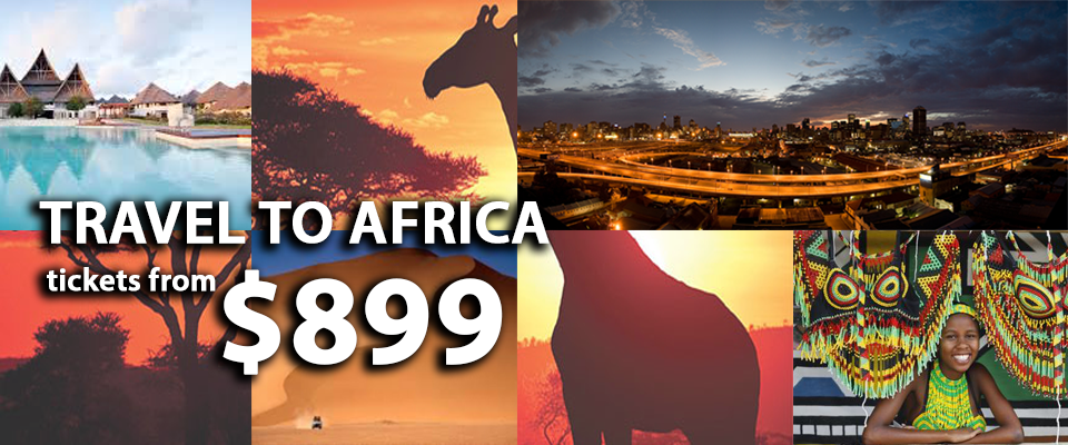Travel to Africa for prices as low as $899