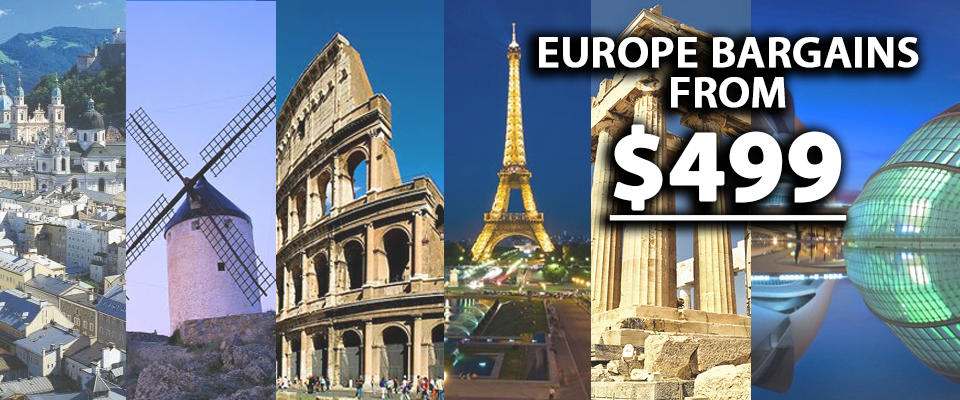 Europe ticket bargains starting from $499