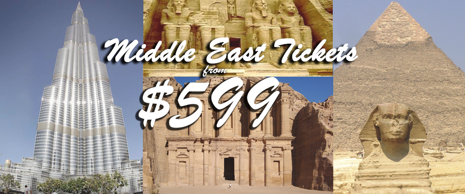 Middle East tickets starting from $599